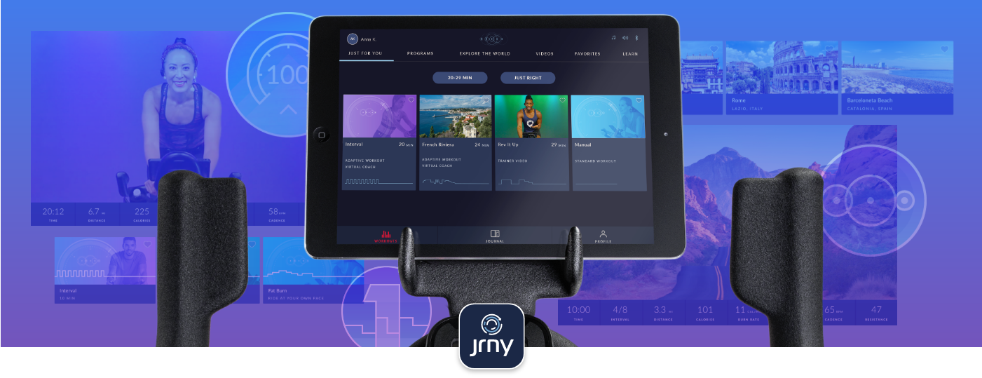 JRNY connectivity with 800IC Bike